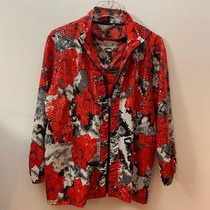Erin London Sequined Jacket Size Large